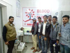जालौन-उरई में ओम सेवा संस्थान द्वारा लगाया गया रक्तदान शिविर।रक्तदान से बड़ा कोई दान नही-सुनील हिंदुस्तानी Soni News