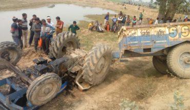 *जालौन-रामपुरा थानान्तर्गत कुम्हेडे लादने जा रहा ट्रैक्टर पलटा ,2 की मौत 1 घायल* Soni News